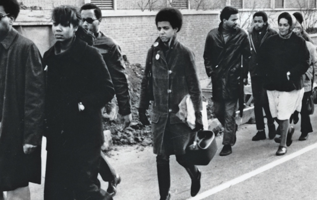 Brown students during the black student walkout in 1968