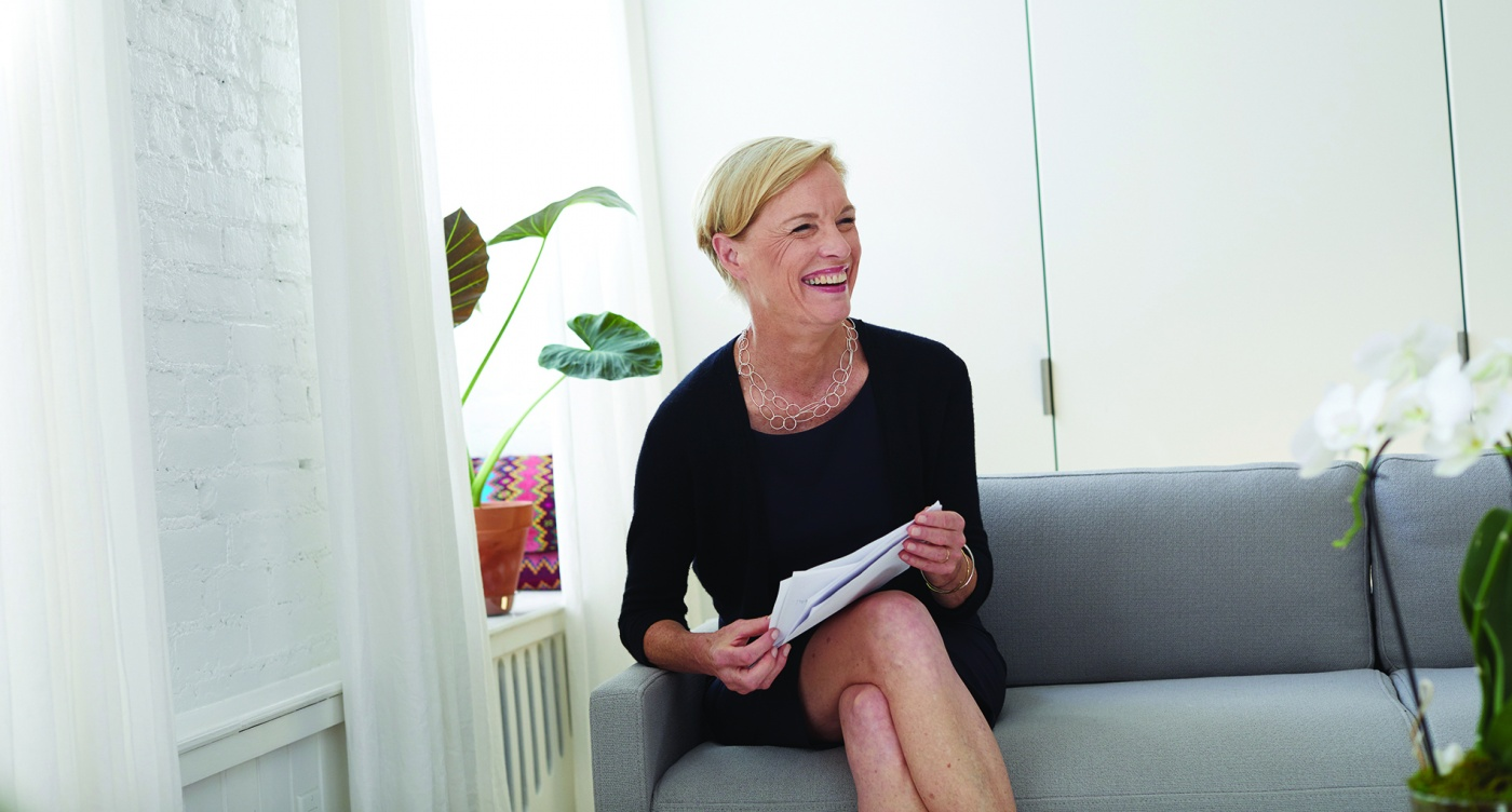 Cecile Richards at her NYC home, July 2018