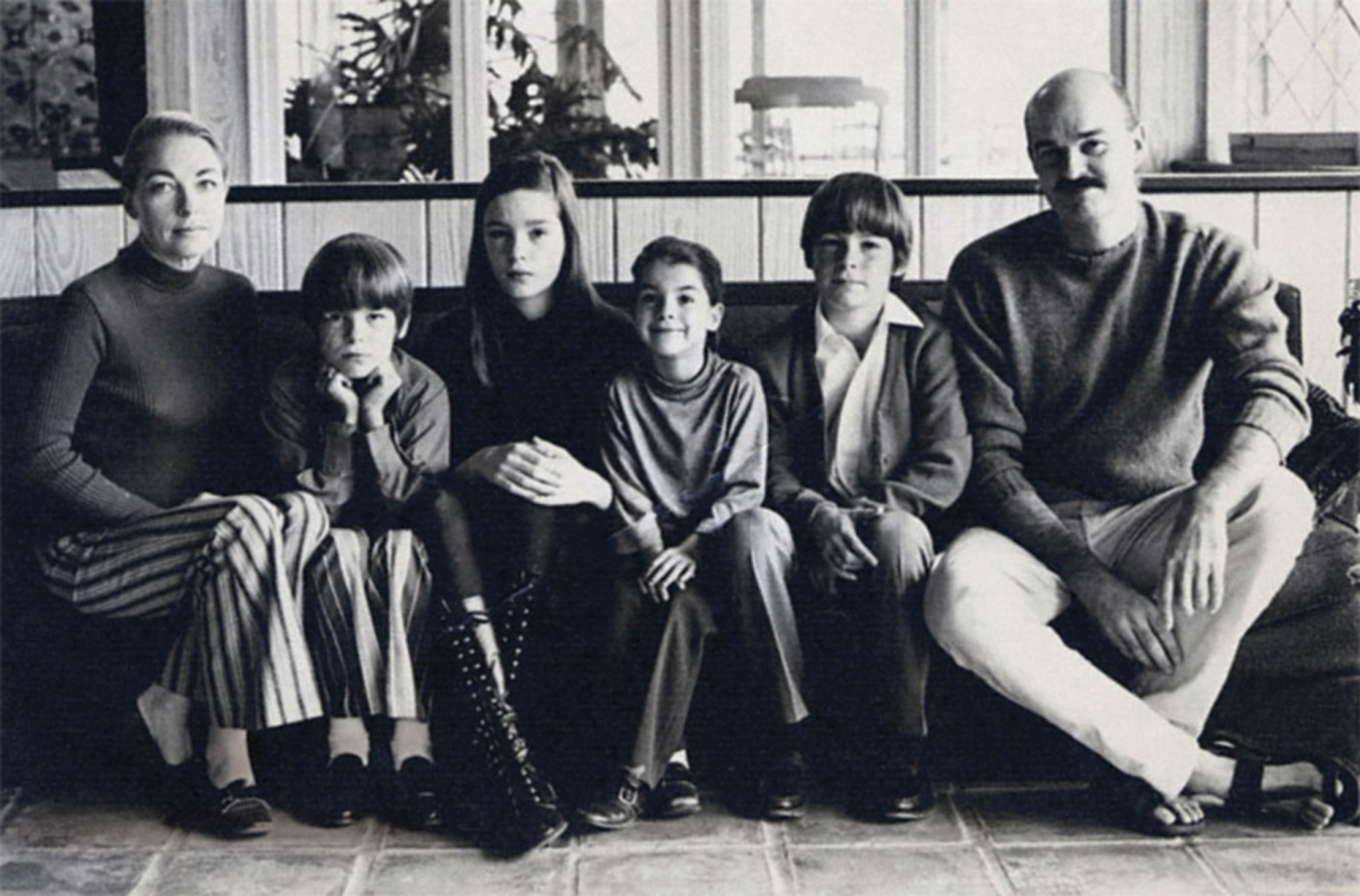 Richards (3rd from left) and family in Austin, 1970.