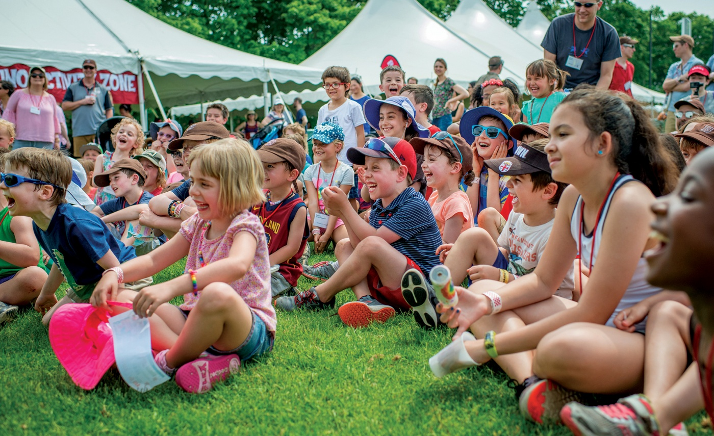 Alumni kids entertained at Field Day