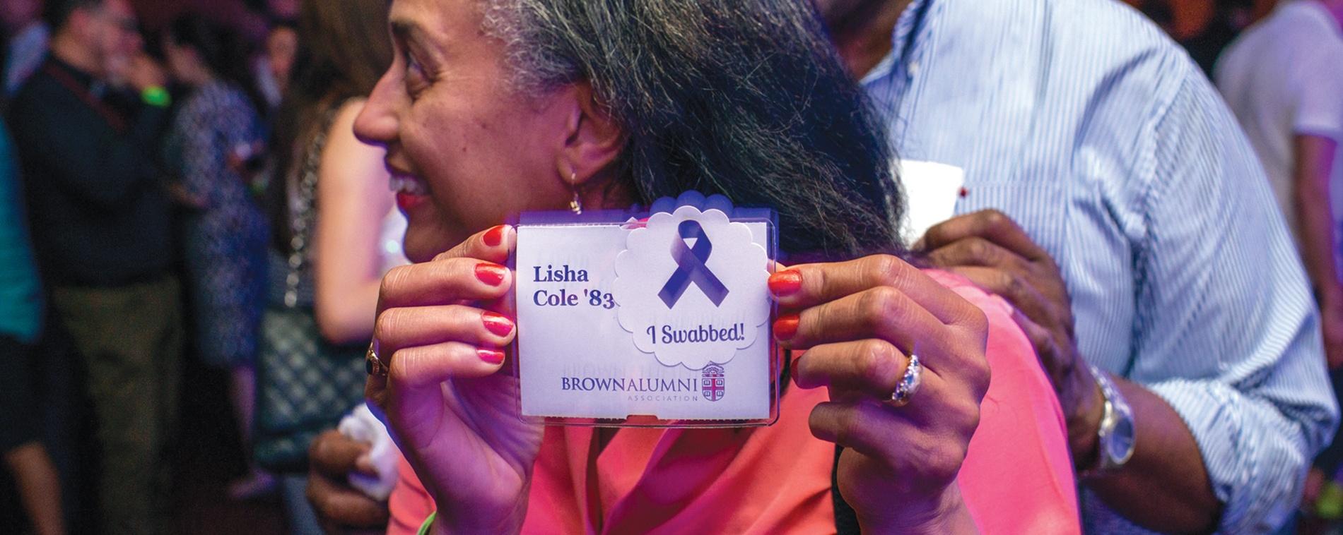 Photo: Lisha Cole '83 swabbed