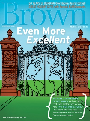 Cover of the November/December 2015 issue of Brown Alumni Magazine