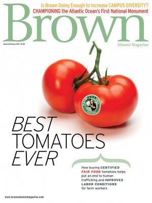 Cover of the January/February 2016 issue of Brown Alumni Magazine
