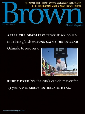 Cover of the September/October 2016 issue of Brown Alumni Magazine
