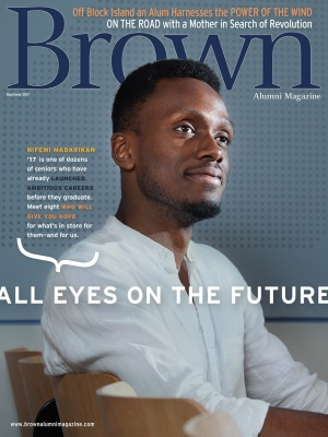 Cover of the May/June 2017 issue of Brown Alumni Magazine