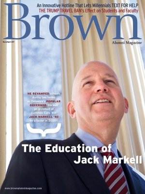 Cover of the March/April 2017 issue of Brown Alumni Magazine