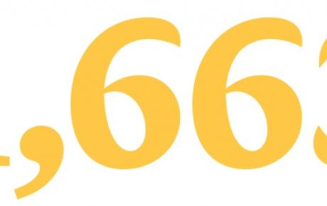 """Large yellow types saying """"1,663"""""""