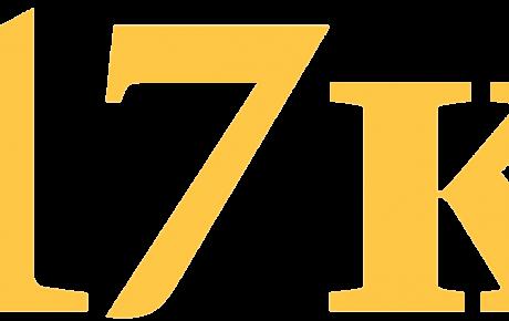 """Large yellow type saying """"17K"""""""